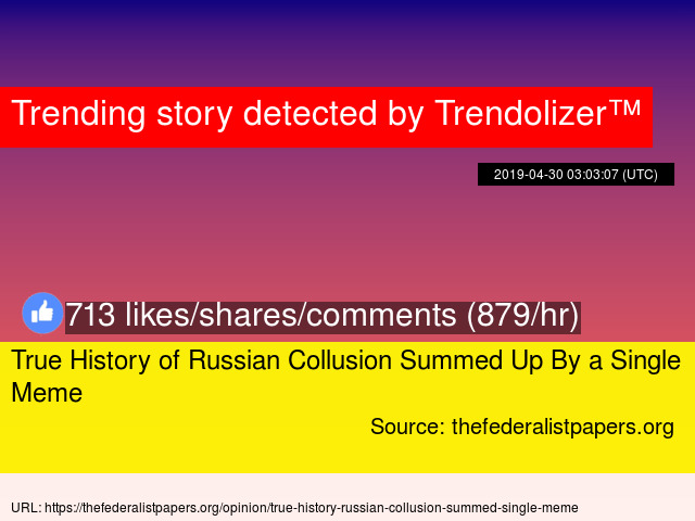 True History of Russian Collusion Summed Up By a Single Meme