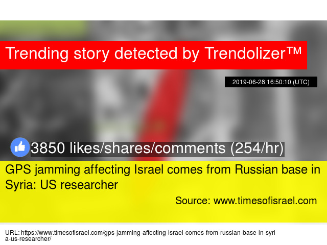 GPS jamming affecting Israel comes from Russian base in Syria: US