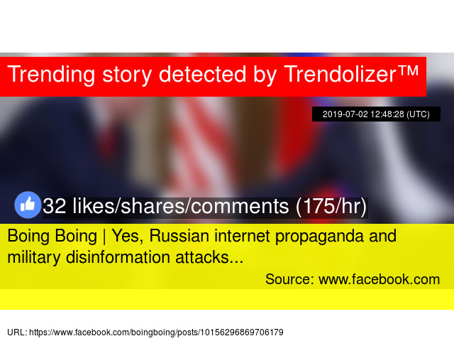 Boing Boing | Yes, Russian internet propaganda and military
