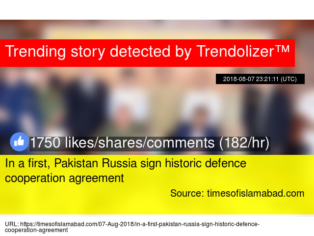 In a first, Pakistan Russia sign historic defence